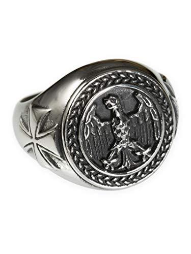 Fly Style Bundeswehr Soldaten Ring aus Edelstahl für Herren, Ring Grösse:20.0 mm