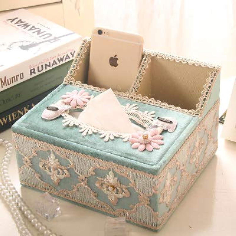 Tissues Box, European Household MultiFunction Living Room Coffee Table Remote Control Storage Box,K