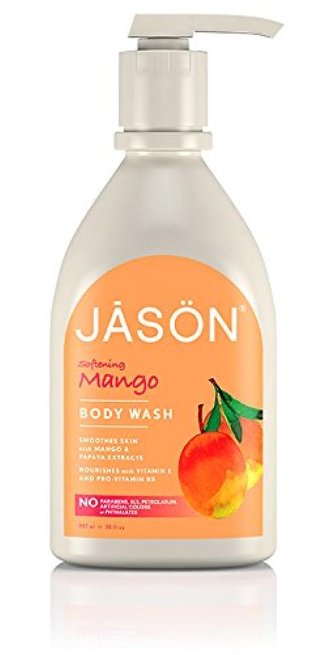 ひいきにする拮抗する新しい意味Jason Natural Products Satin Shower Body Wash Natural Mango & Papaya 887 ml (並行輸入品)