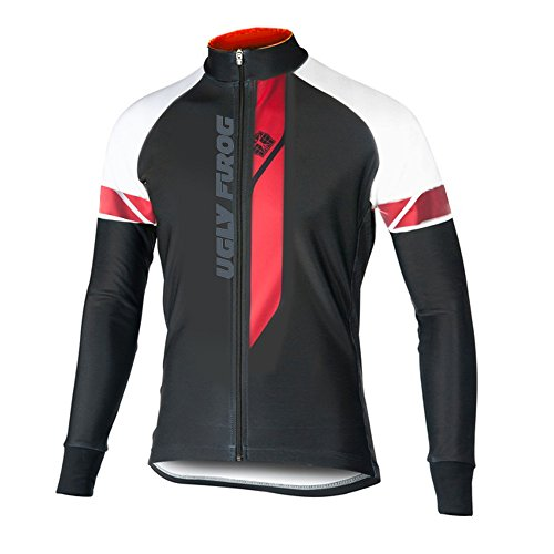 Uglyfrog 2018-2019 Rennrad MTB Winter Fahrrad Trikot Langarm Herren Warmes with Fleece Element Thermo Gemütlich Jersey Winterbekleidung Stilaktualisierung