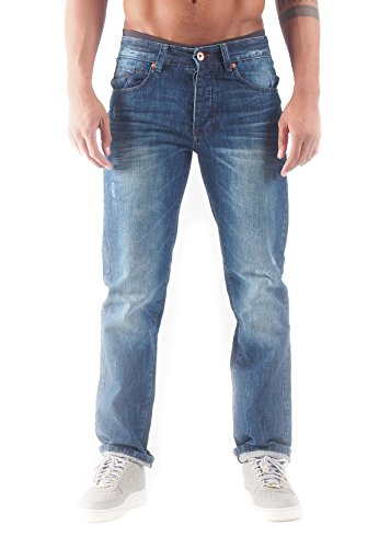Rocawear Heren Straight Fit Jeans Relax Fit