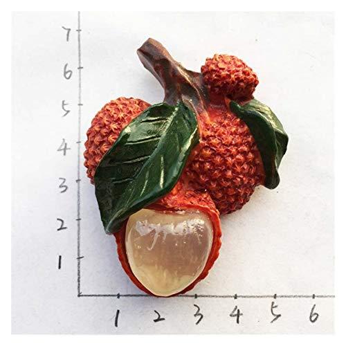 Yjswkfi Imán de refrigerador Pegatinas magnéticas de la Fruta de la Fruta 3D pintadas a Mano Lindas Etiquetas de refrigerador Creativo Creativo Infantil imanes (Color : Burgundy)