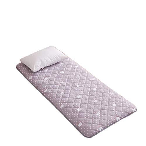 CXD Thicken Futon Tatami Cushion Mattress, Floor Mat Mattress Pad Non-Slip Sleeping Cushion Folding Mattress Japanese Thicken Floor Mat,Krone,1.8m