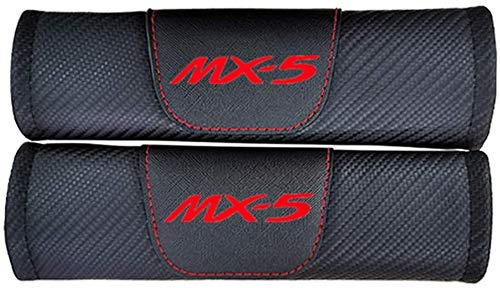 DENGD 2Pcs Car Seat Belt Padding Protection Covers, For Mazda Mx5, Auto Safety Shoulder Strap Cushion Cover Pads