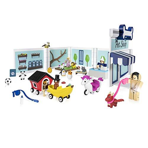 ROBLOX ROG0177 Roblox Celebrity Deluxe Spielset Adopt Me Pet Store mit 3 Spielfiguren, 9 Tierchen, Zubehör und Spielcode für Kinder ab 6 Jahren