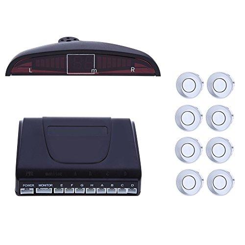 Écran LED 8 Capteur de stationnement Radar d'alarme de voiture avant arrière Recul sauvegarde Radar Système d'alarme