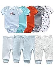 طفل رضيع فتاة داخلية + السراويل الملابس مجموعات 0-12 متر الملابس للجنسين الوليد الفتيات الطفل القطن (Color : TP38, Kid Size : 6M)