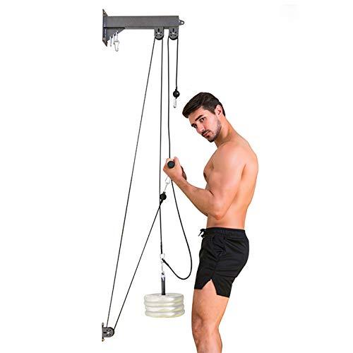 EYLIFE Bizeps/Trizeps Trainingsgeräte für Zuhause, Kabelzug Fitness zur Wandmontage, Unterarmtrainer Fitnessgeräte für Zuhause Muskelaufbau