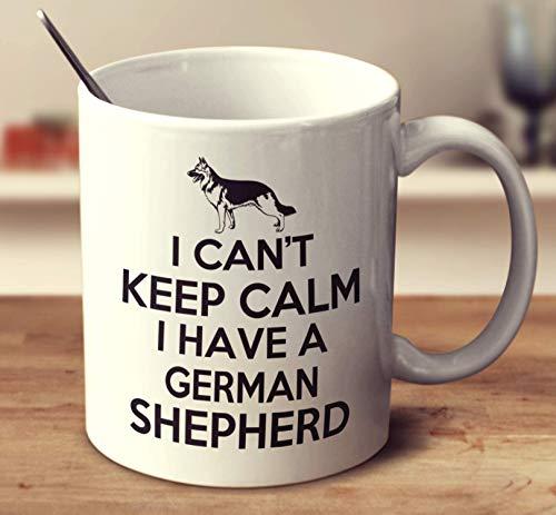 N\A No Puedo Mantener la Calma, Tengo una Taza de café Blanca de Pastor alemán de 11 onzas