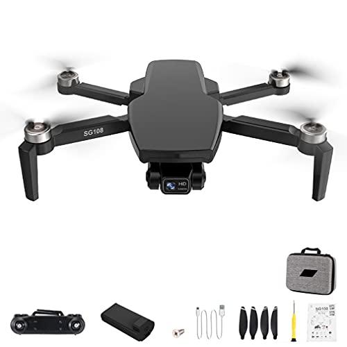 RHNE SG108 Pro 4K Drone 2-Axis Gimbal Cámara Profesional GPS 5G WiFi FPV Dron Sin escobillas Larga Distancia 1000m RC Quadcopter Negro 1 * batería