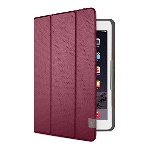 "Belkin F7N319btC03 - Funda Tri-Fold Universal para Tablets 10"" (Compatible con iPad 2017, iPad Air 1/2 y Samsung Tab 4, S, A, E), Rojo Oscuro"