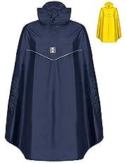 HOCK Rain Light Fiets-regenponcho met capuchon en zijdelingse armopening, extra lichte regencape voor dames en heren, 100,0% waterdichte fietsponcho, windbestendig
