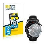 BROTECT 2X Entspiegelungs-Schutzfolie kompatibel mit Mobvoi Ticwatch Pro 2020 Bildschirmschutz-Folie Matt, Anti-Reflex, Anti-Fingerprint
