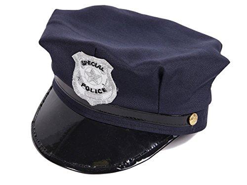 Casquette Chapeau Police Américaine Bleu pour Enfant (KH-176A) Unisex Convient Aussi Bien à Un garçon qu'à Une Fille (Environ Entre 6 et 12 Ans) pour déguisement Policier