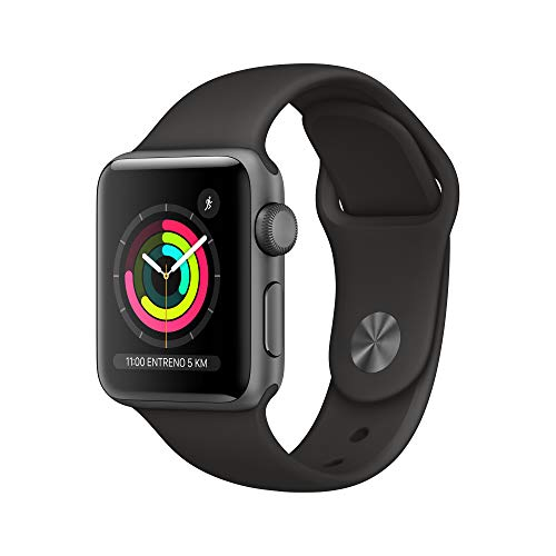 Apple Watch Series 3 (GPS, 38mm) Aluminio en Gris Espacial - Correa Deportiva Negro