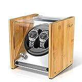 Watch Winder Smith Remontoir à Montres Automatique pour 2 montres,Rolex Couple Taille,100% Artisanat Conception de brevet en bois...