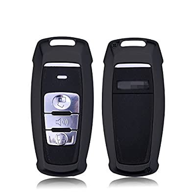 [MissBlue] Aircraft Aluminum Key Fob Cover For Haval Remote Key, Protector Case Fits Haval H2 H6 Coupe H7 H8 H9 Smart Car Key, Unisex Leather Key Fob Keychain for Men Key Fob Holder for Women