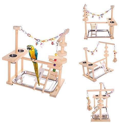 QBLEEV Parrot Playstand Bird Play Stand Cockatiel Playground...