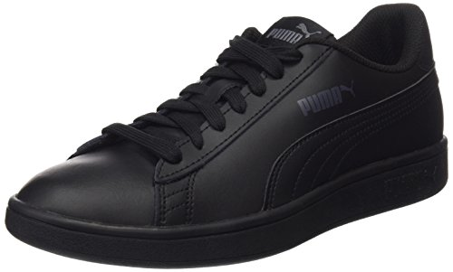 PUMA Smash v2 L, Baskets de Cross Mixte, Noir Black Black, 42 EU