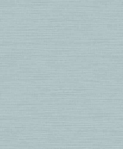 Advantage 2814-MKE-3106 Zora Aqua Linen Texture Wallpaper