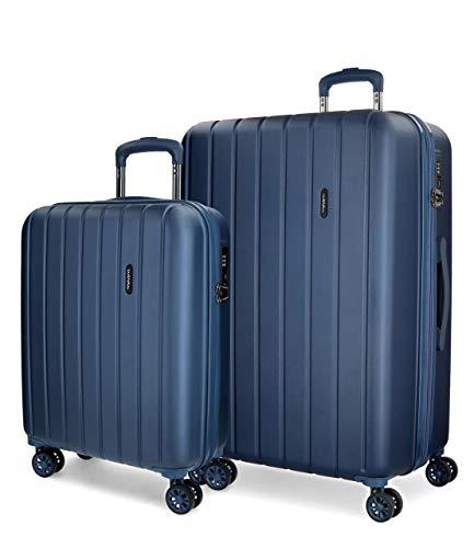 Movom Wood 5319564 Juego de Maletas, 65 cm, 111 litros, Azul