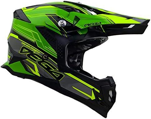 Vega Helmets Unisex Adult Off Road MCX Lightweight Fully Loaded Dirt Bike Helmet Green Stinger product image