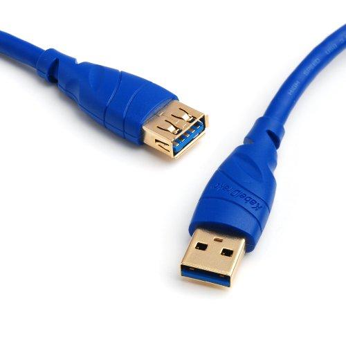 KabelDirekt – USB 3.0 Verlängerungskabel – 3m (A Stecker > A Buchse) – TOP Series