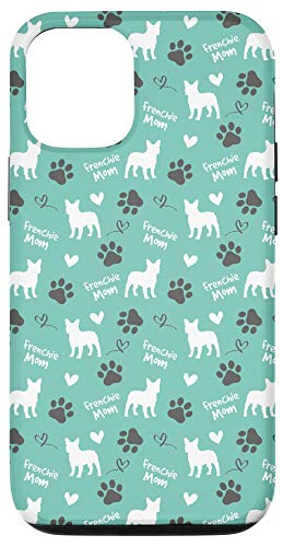 iPhone 12/12 Pro Frenchie Mom French Bulldog Mom Blue Women Case