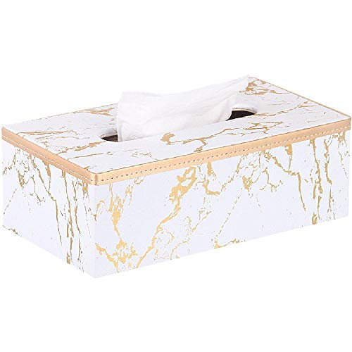 YQZX Caja de Papel Home Sala de Estar Caja de Tejido Creativo Simple Nordic Nordic Caja de Almacenamiento Caja de Papel de mármol,White
