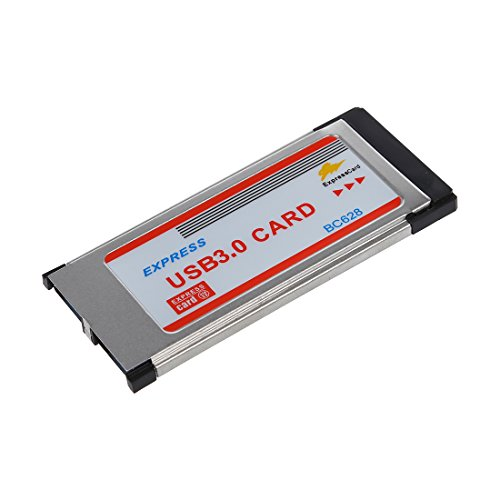 Cikuso Adaptador Tarjeta USB 3.0 34mm a Dos 2 Puertos Express Card