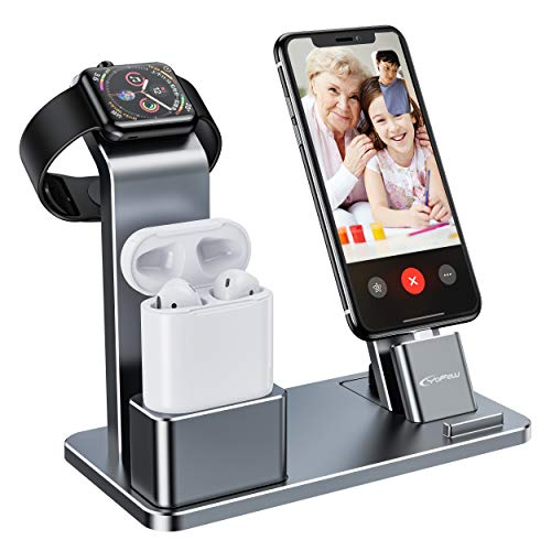 YoFeW Charging Stand for Apple Watch Charger Stand Aluminum Dock Station...