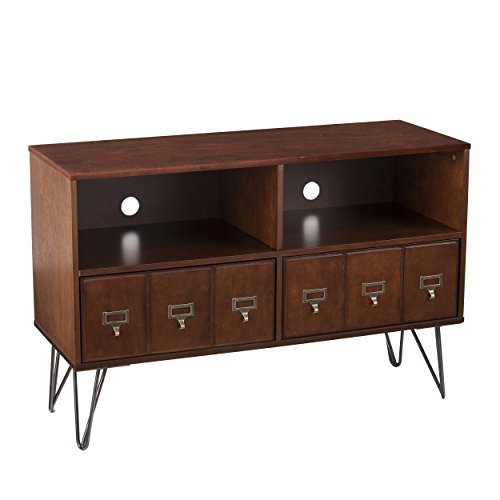 SEI Furniture Southern Enterprises, Whiskey Maple, Dark Gunmetal Gray