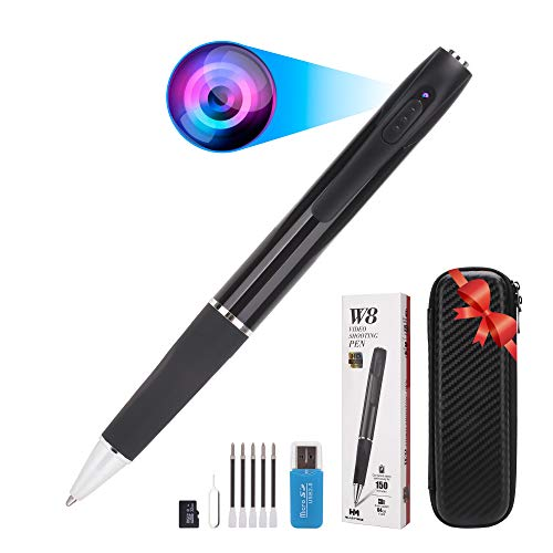 HilarityMax Camera Pen with 32GB TF Card and Storage Case, Capture HD 1080P Video and High Resolution Photos, 2.5 Hours of Recording Time, Rechargeable