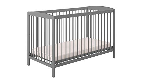 Polini Kids Babybett Gitterbett Kinderbett Simple 101 grau aus Naturholz,3022-15