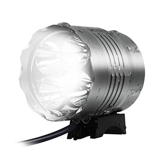 RUIMA LED Fahrrad Licht Set 6000 Lumen Wiederaufladbare Fahrrad Licht Wasserdicht CREE T6 5 LED Fahrrad Front Light (Color : B)