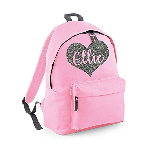 37f4673a44cf Personalised Heart Name Backpack Rucksack School bags Girls Personalised  Bags
