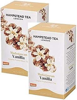 Hampstead Tea London Madagascan Vanille Bio Fruited Schwarzer Tee - 2 x 20 Beutel 60 Gramm