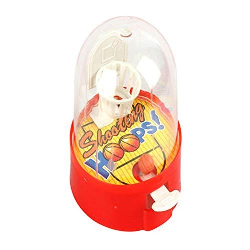 Heylas - Juego de 5 minibalones de Baloncesto, Mini Juguete de Tiro de Dedos, Juguete de Escritorio, Juguete pequeño, Juguete de Aprendizaje para la educación temprana, niños y niñas