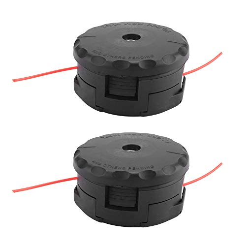 %9 OFF! 2Pcs Trimmer Head, Weed Eater String Trimmer Head Grass Brush Cutter String Set Spool Pack E...