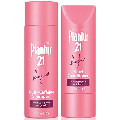 Plantur 21 #longhair Shampoo and Conditioner Set for Long and Brilliant Hair | Improves Hair Growth and Repairs Stressed Hair | No Silicones | Set of 200ml Shampoo and 175ml Conditioner