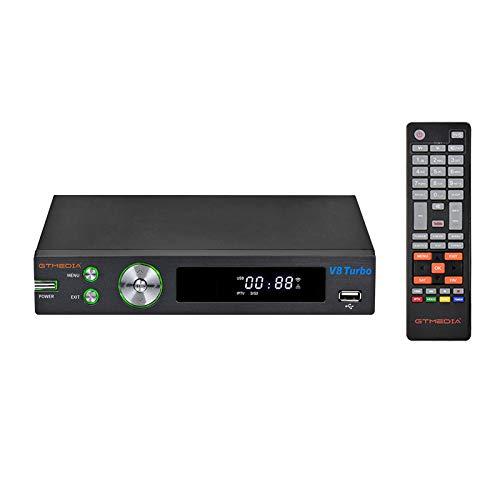 docooler GT Media V8 Turbo Decoder Digitale Terrestre Ricevitori TV satellitare 1080P DVB-S2   S2X   T2   Cavo J.83B Lettore Video Supporto WiFi Integrato Slot per Scheda AC H.265