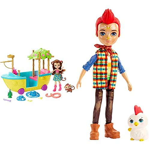 Enchantimals - Barco De La Selva Mágica con Muñeca Merit Monkey (Mattel...