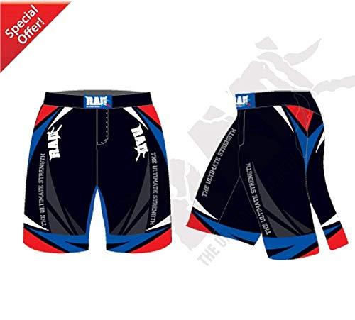 2Fit Your Fitness Partner RAD MMA Kampf-Shorts Grappling kurz UFC Kickboxen Cage Fighting Shorts Kampfsport Muay Thai Kickboxen Training Shorts (blau, groß)