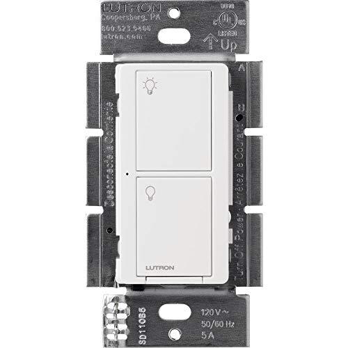 Lutron PD-5ANS-WH-R WIRELS SWITCH WHT 5A, white & gray
