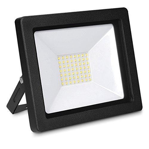 kwmobile Foco proyector LED de exteriores de 50W - Reflector con cable de 3M para patio jardín garaje - Lámpara LED para interior y exterior