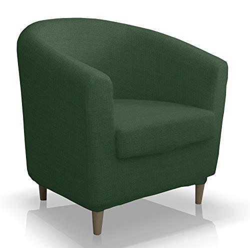 Bartali Stretchhusse Grün für IKEA-Sessel Clubsessel Tullsta Armsessel Vintage Retro Cocktailsessel Bezug