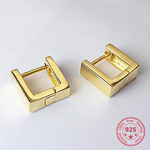 Pendientes de tuerca geométricos concisos creativos de plata esterlina 925 diseño europeo americano