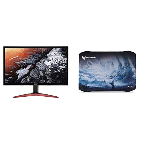 Acer KG241Q Pbiip 23.6' Full HD (1920 x 1080) TN 144Hz 1ms Monitor with AMD FREESYNC Technology (Display Port & 2 x HDMI) with Acer Predator Ice Tunnel Mousepad