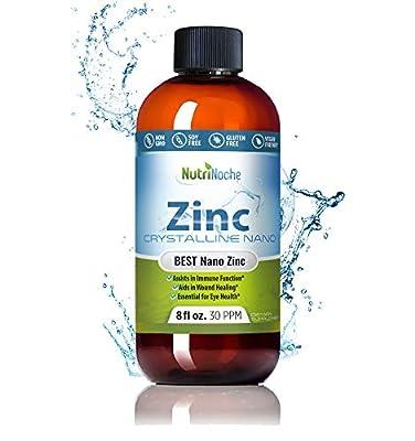 NutriNoche Liquid Zinc - Best Zinc Supplement - Colloidal Minerals - 30 PPM - Highly Absorbable Zinc Supplement