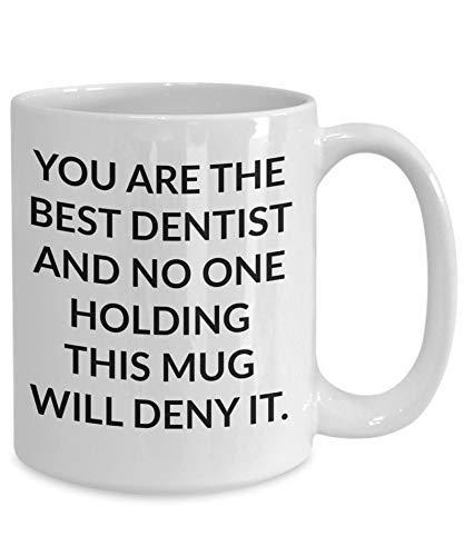 Eastlif Beste Zahnarzt Geschenkbecher Geschenk für einen Zahnarzt Zahnarzt Kaffeetasse Zahnarzt Geschenkbecher